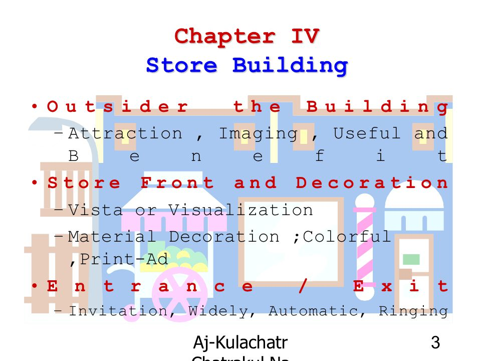 Chapter IV Store Building