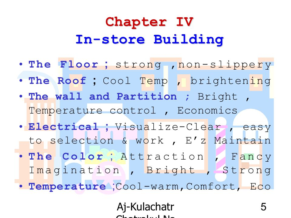 Chapter IV In-store Building