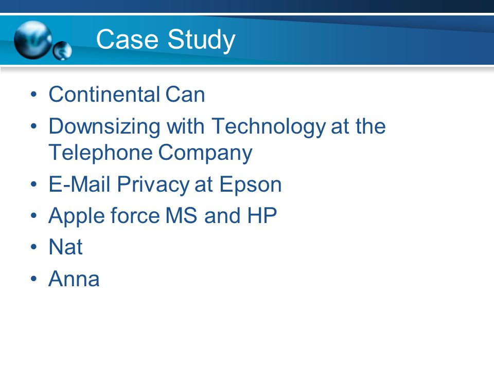 Case Study Continental Can