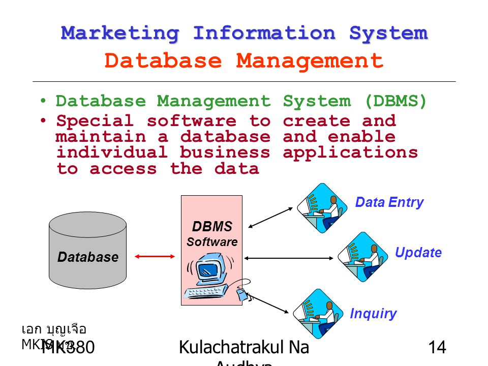 Marketing Information System Database Management