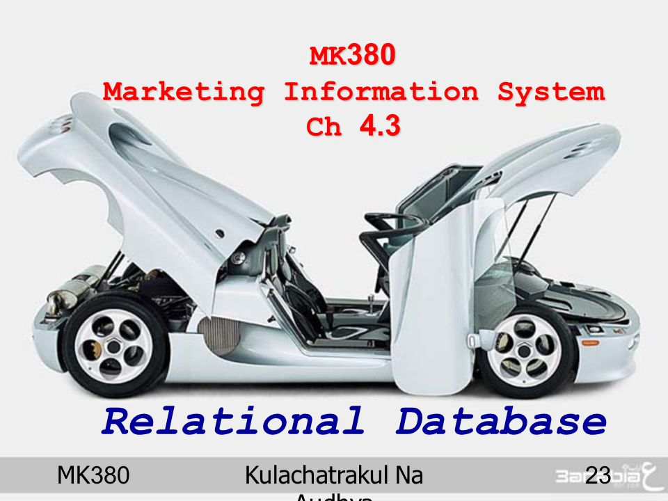 MK380 Marketing Information System Ch 4.3 Relational Database