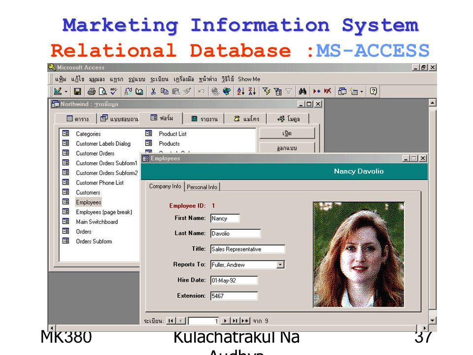Marketing Information System Relational Database :MS-ACCESS