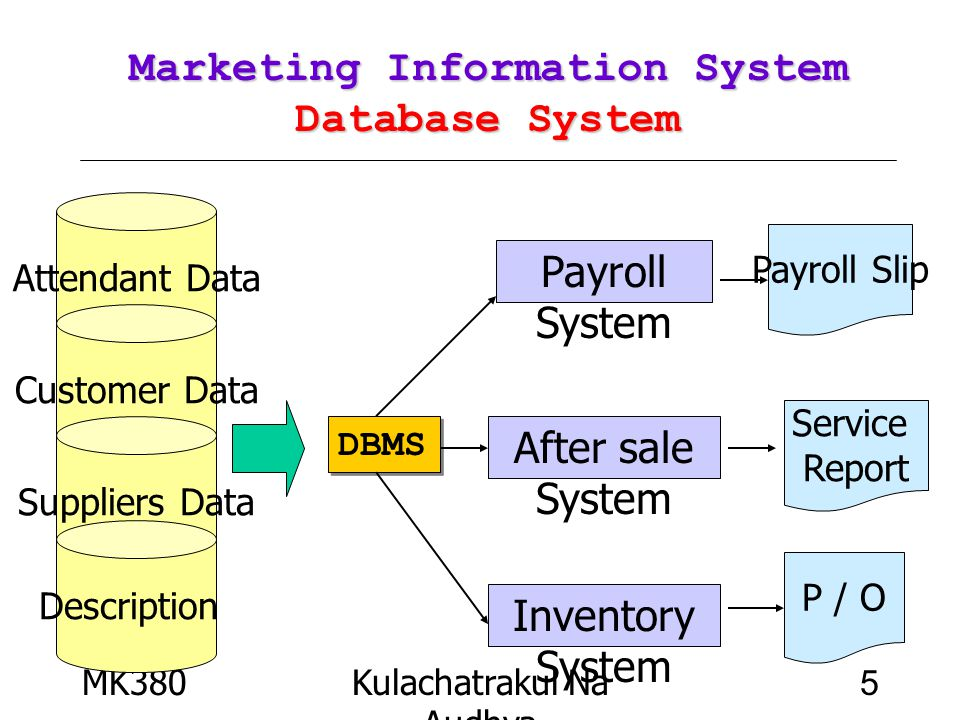 Marketing Information System Database System