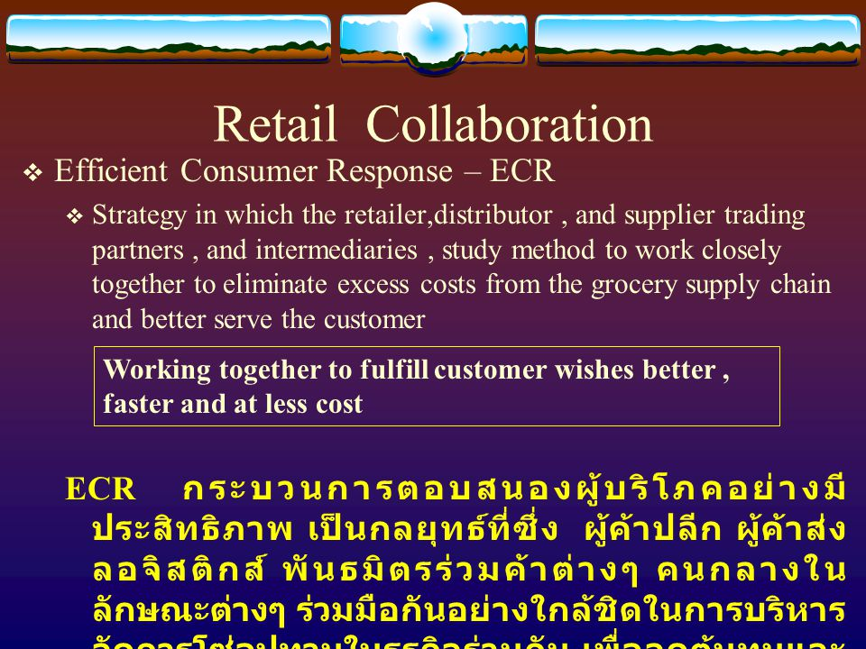 Retail Collaboration Efficient Consumer Response – ECR