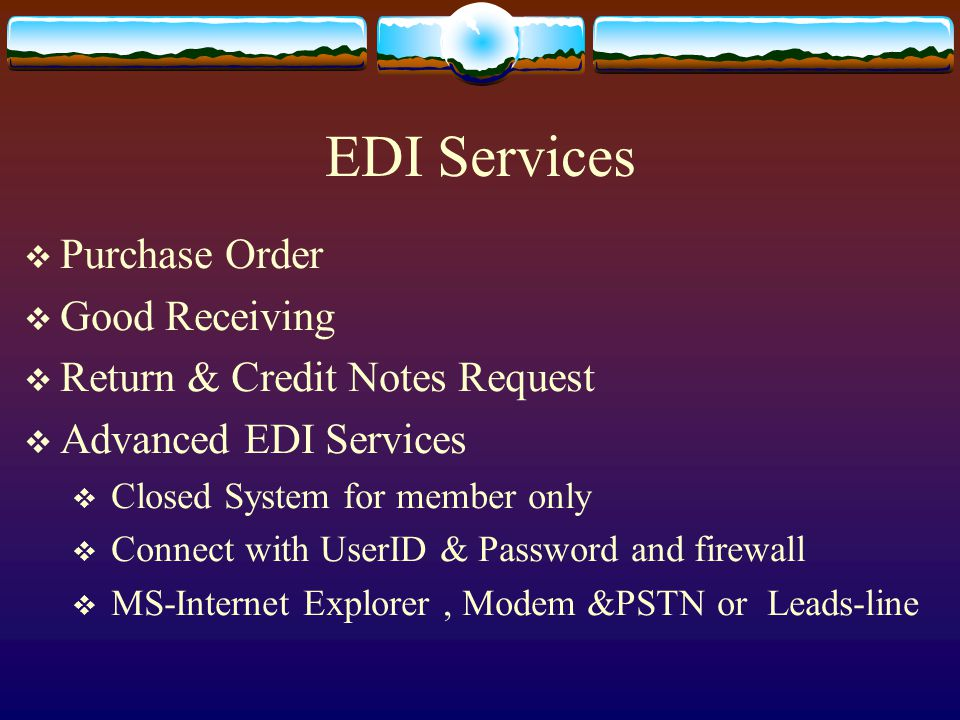 EDI Services Purchase Order Good Receiving