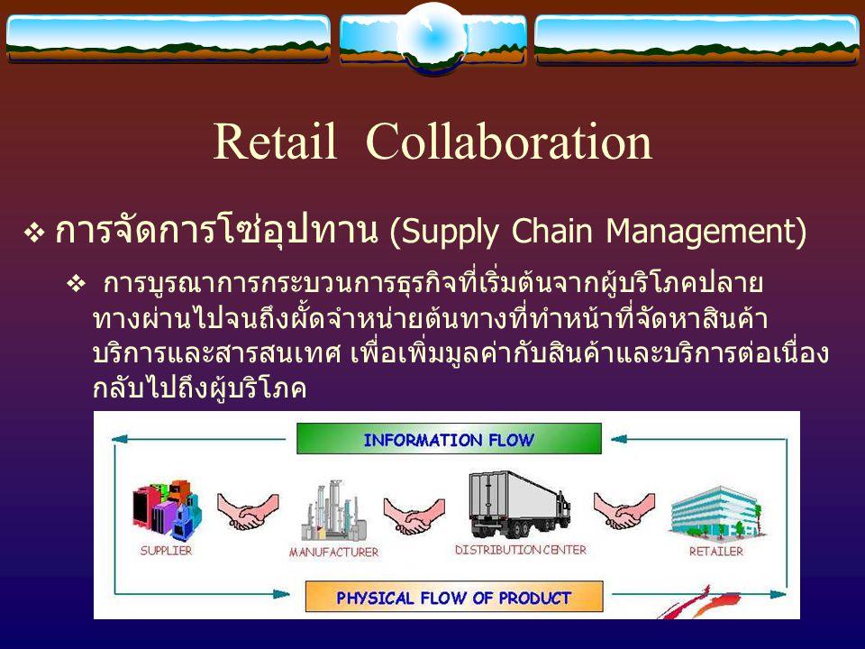 Retail Collaboration การจัดการโซ่อุปทาน (Supply Chain Management)