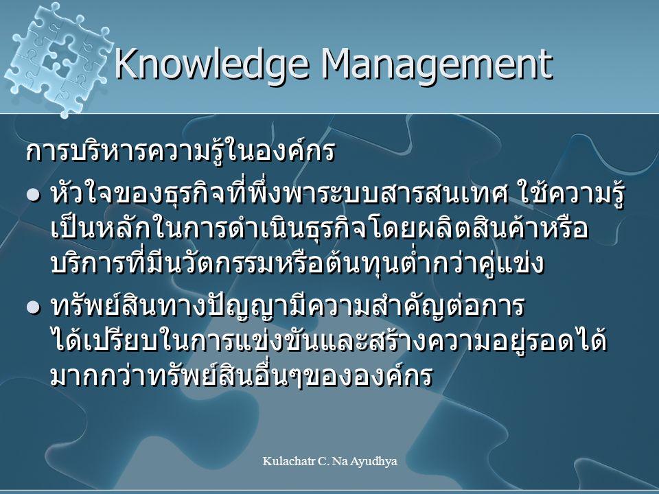 Knowledge Management การบริหารความรู้ในองค์กร