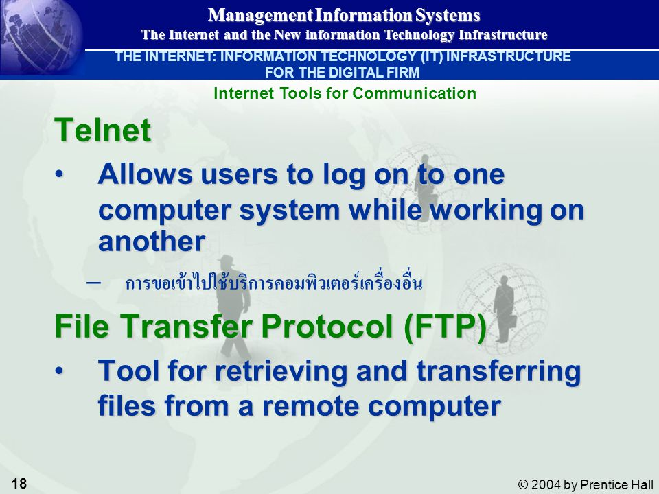 Internet Tools for Communication