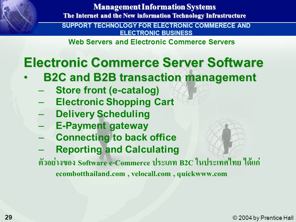 Electronic Commerce Server Software