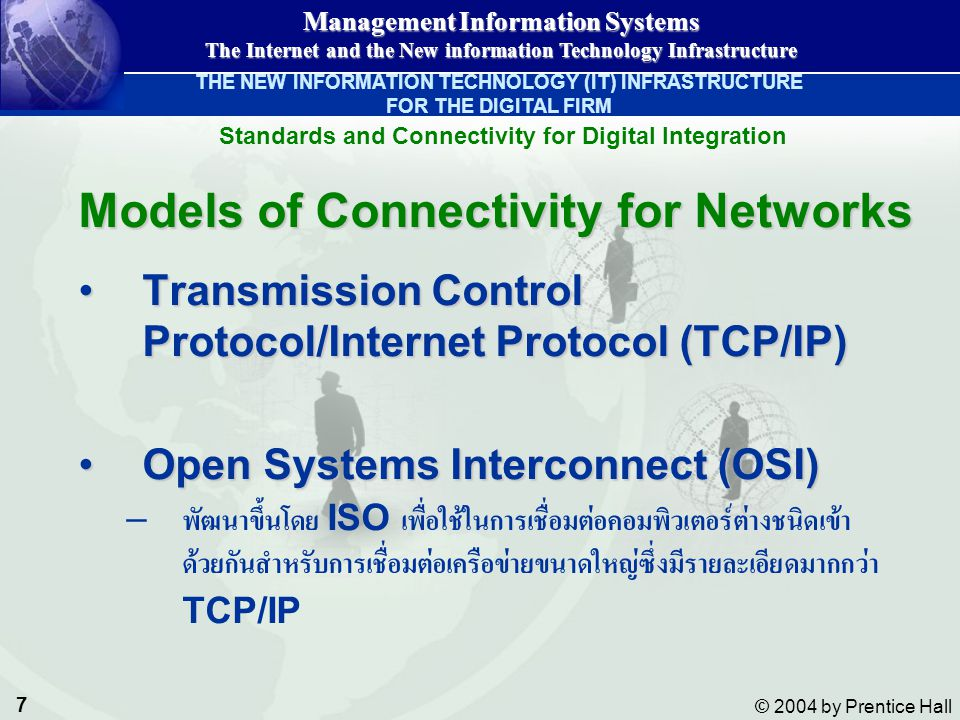 Standards and Connectivity for Digital Integration