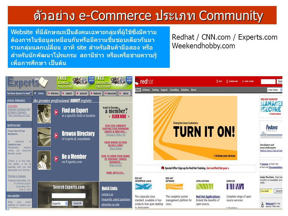 ตัวอย่าง e-Commerce ประเภท Community