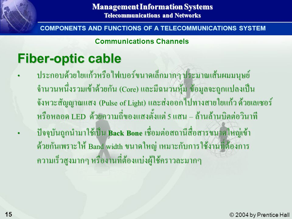 COMPONENTS AND FUNCTIONS OF A TELECOMMUNICATIONS SYSTEM