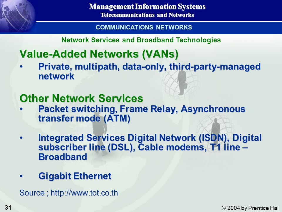 COMMUNICATIONS NETWORKS Network Services and Broadband Technologies