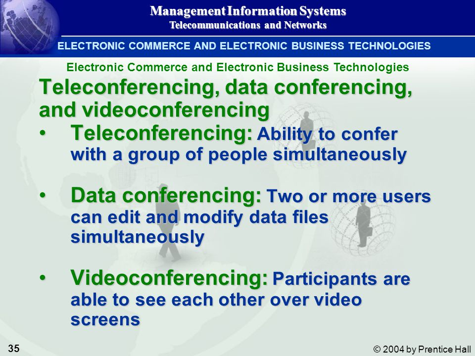 Teleconferencing, data conferencing, and videoconferencing