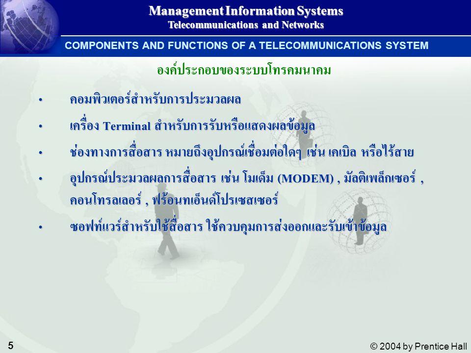 องค์ประกอบของระบบโทรคมนาคม