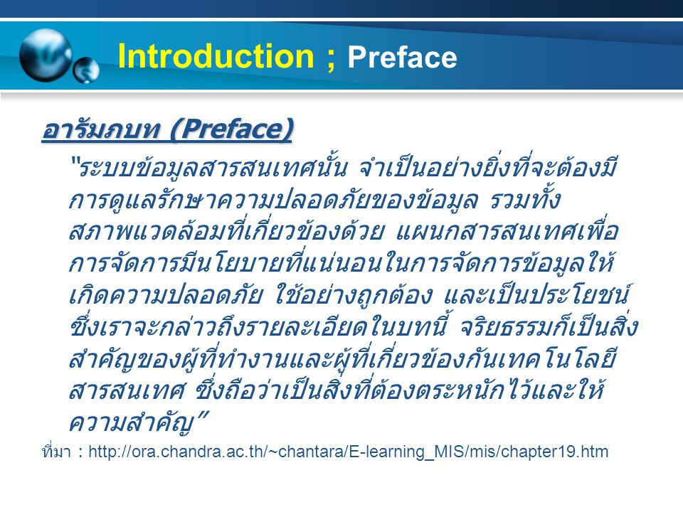 Introduction ; Preface