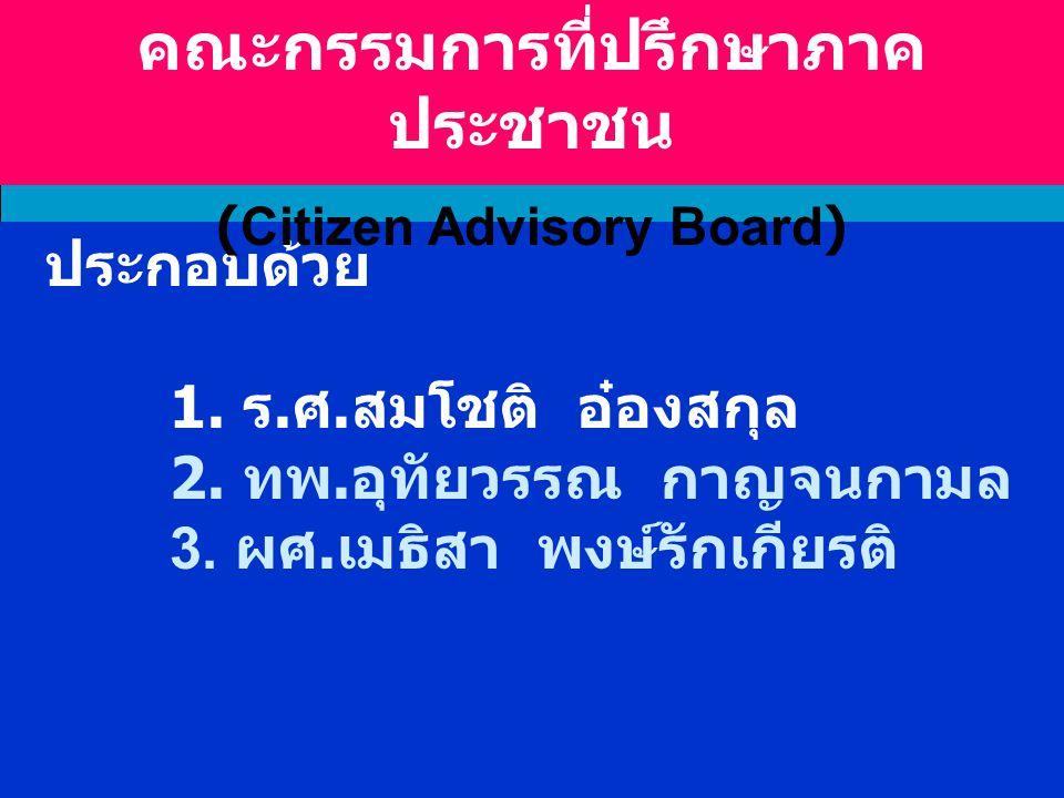 คณะกรรมการที่ปรึกษาภาคประชาชน (Citizen Advisory Board)