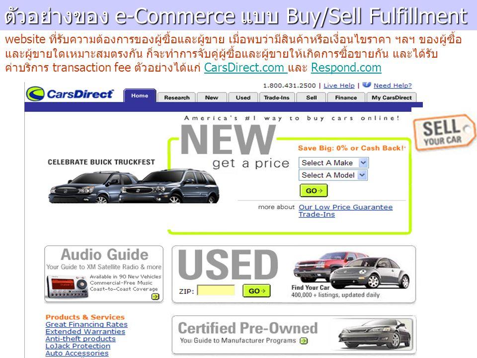 ตัวอย่างของ e-Commerce แบบ Buy/Sell Fulfillment