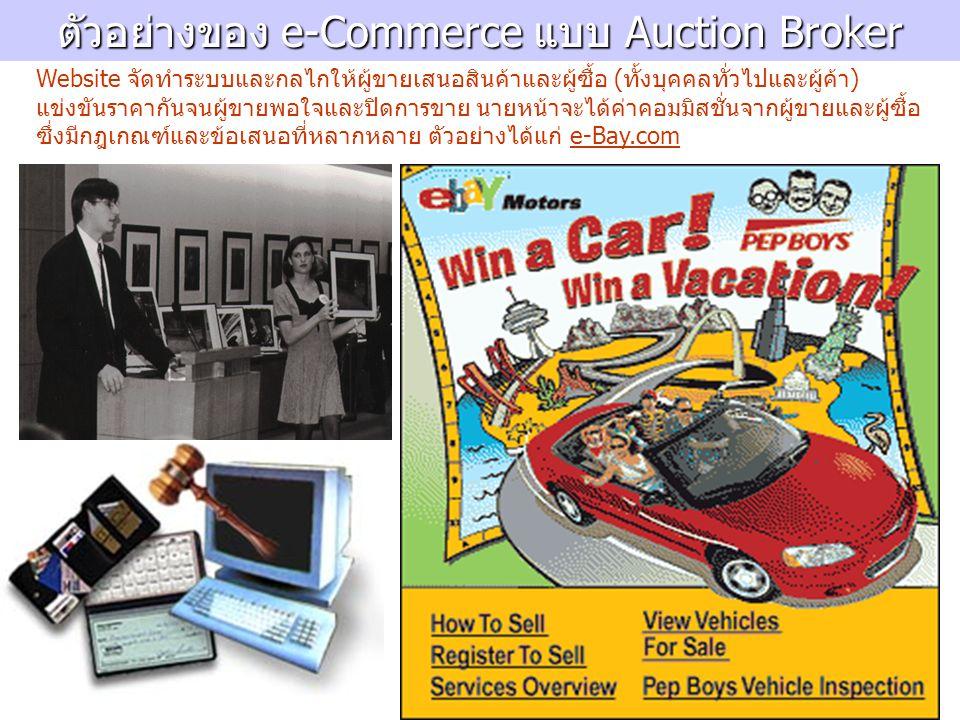 ตัวอย่างของ e-Commerce แบบ Auction Broker