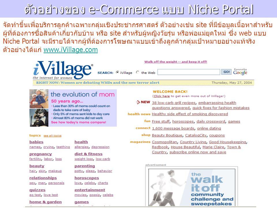 ตัวอย่างของ e-Commerce แบบ Niche Portal