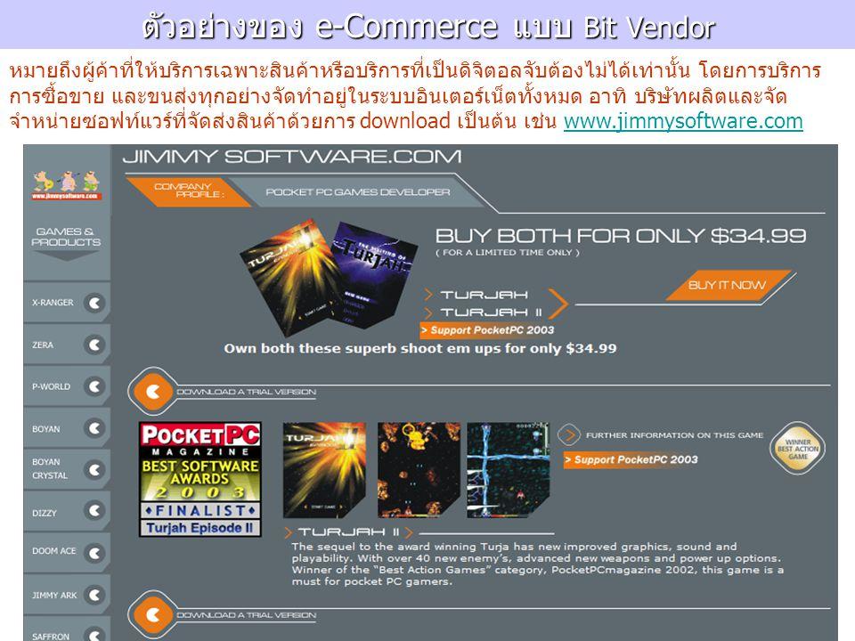 ตัวอย่างของ e-Commerce แบบ Bit Vendor