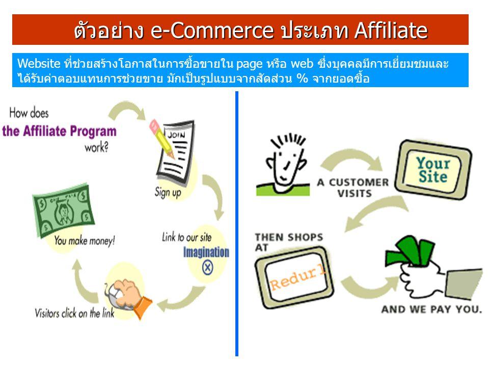 ตัวอย่าง e-Commerce ประเภท Affiliate