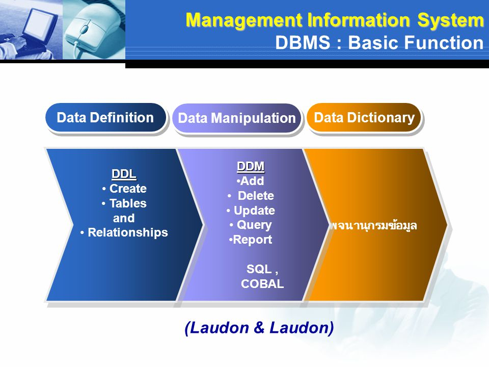 Management Information System DBMS : Basic Function