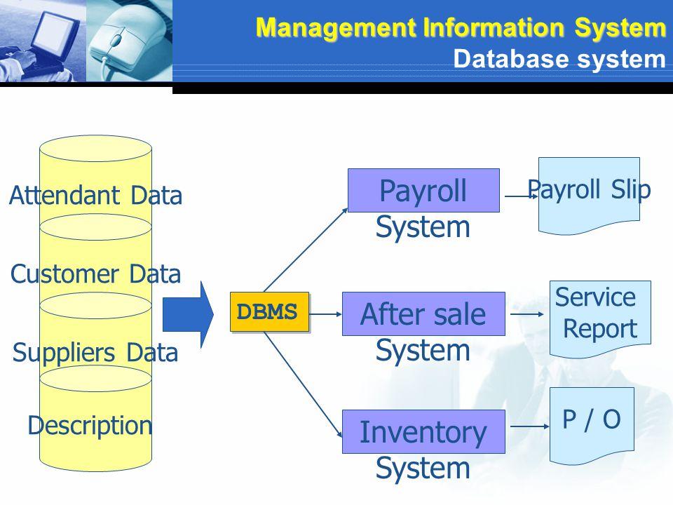 Management Information System Database system