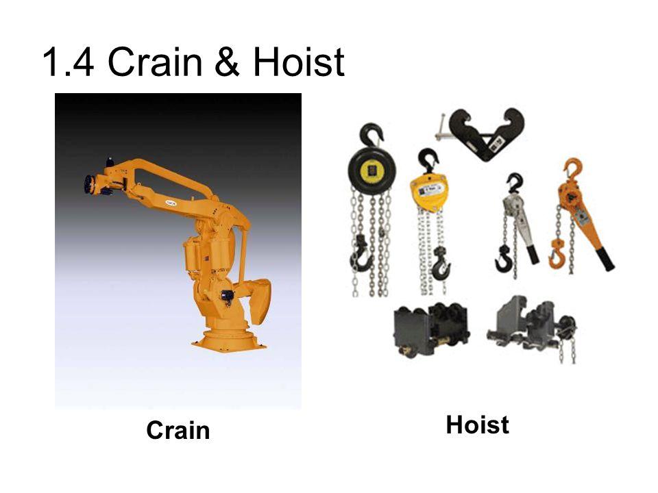 1.4 Crain & Hoist Hoist Crain