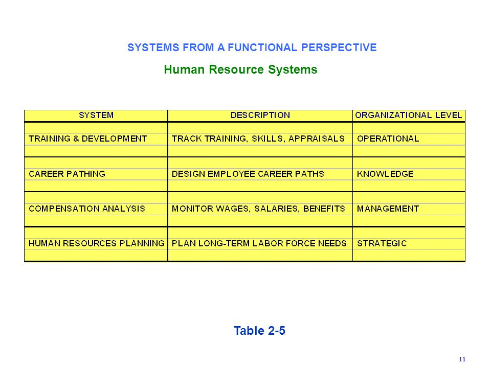 SYSTEMS FROM A FUNCTIONAL PERSPECTIVE