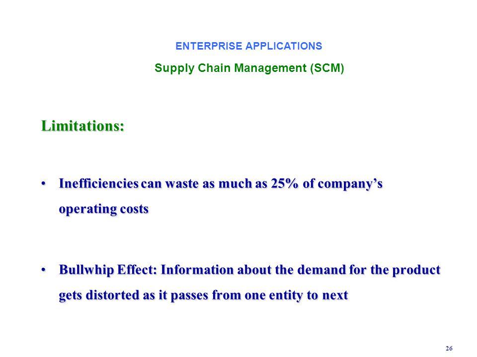 ENTERPRISE APPLICATIONS Supply Chain Management (SCM)