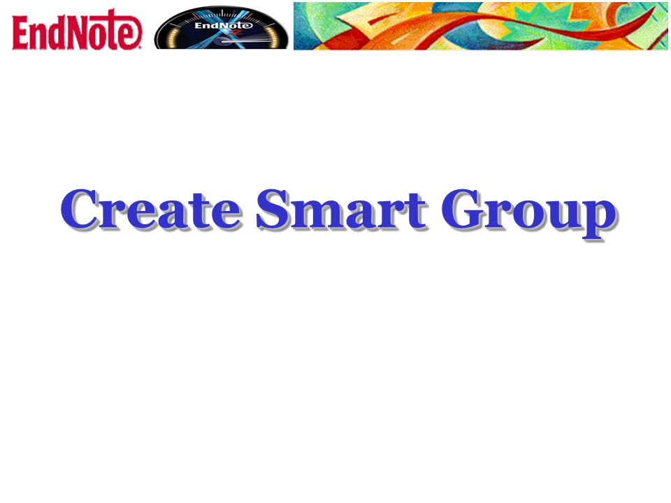 Create Smart Group