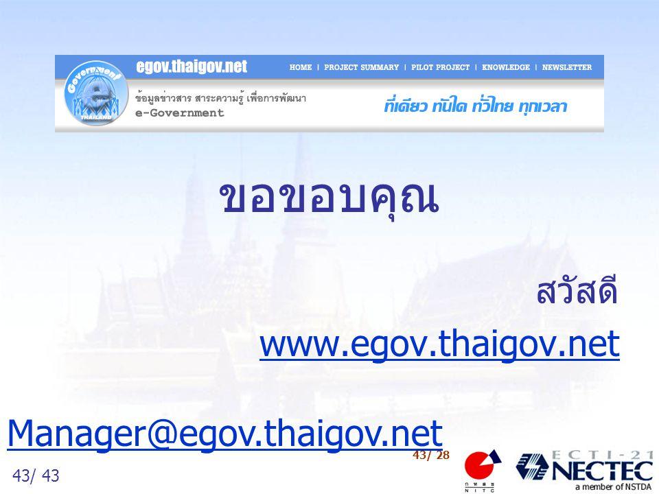 สวัสดี www.egov.thaigov.net