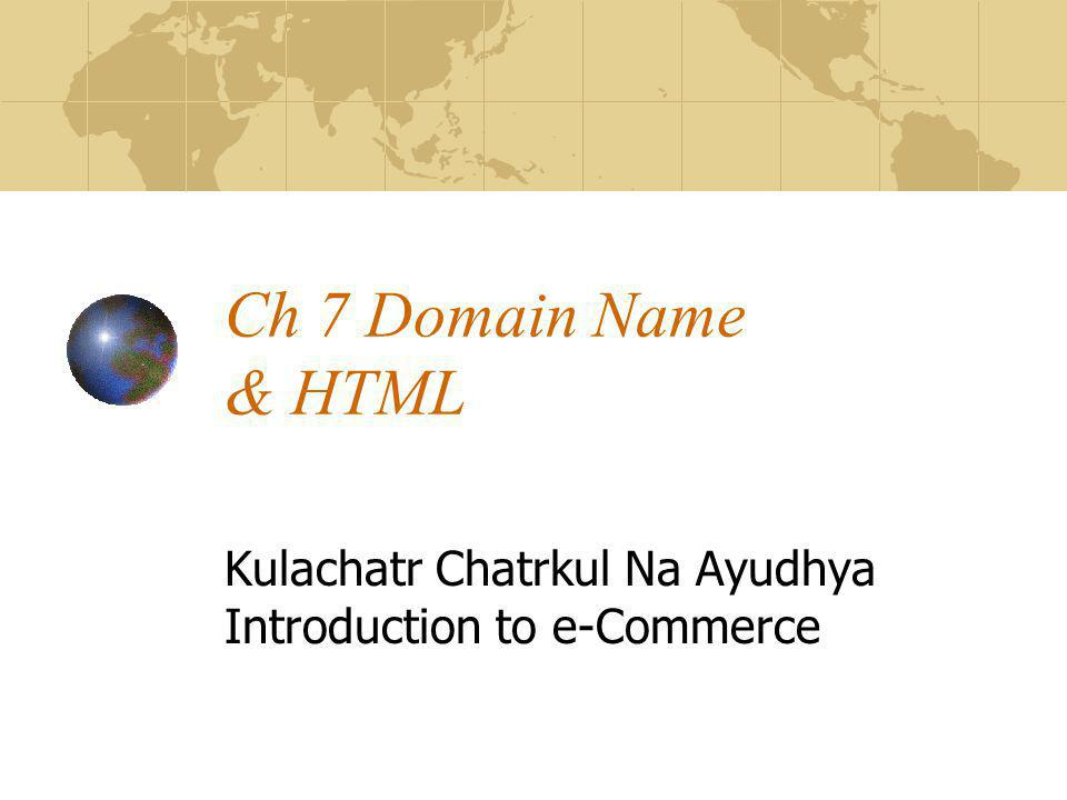 Kulachatr Chatrkul Na Ayudhya Introduction to e-Commerce
