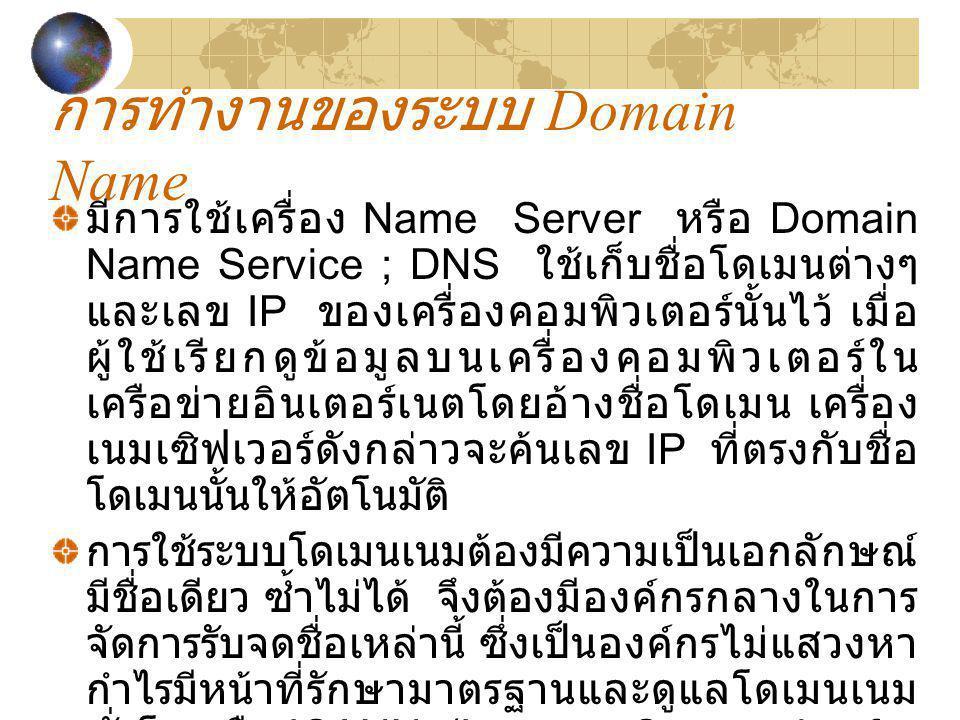 การทำงานของระบบ Domain Name