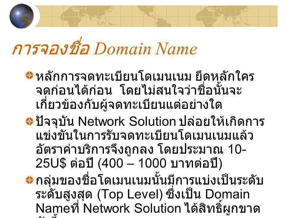 การจองชื่อ Domain Name