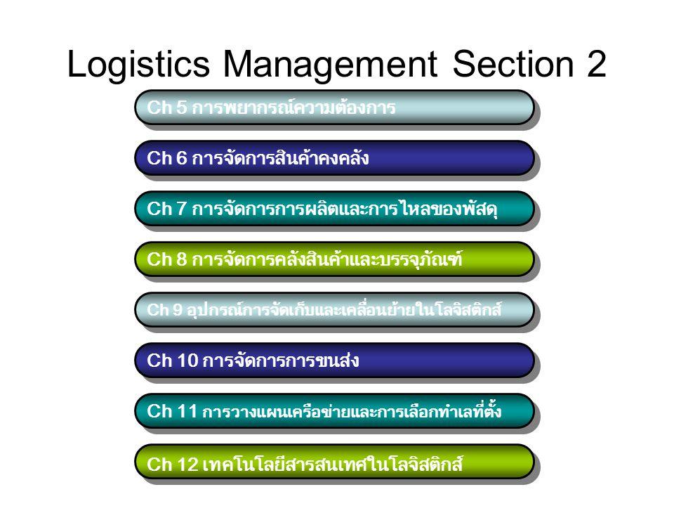 Logistics Management Section 2