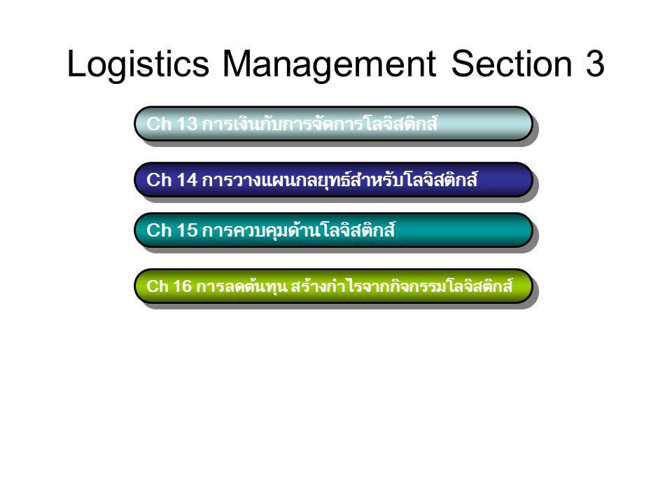 Logistics Management Section 3