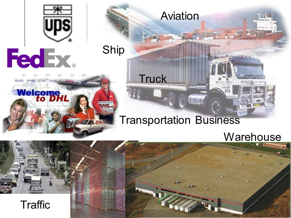 Aviation Ship Truck Transportation Business Warehouse Traffic