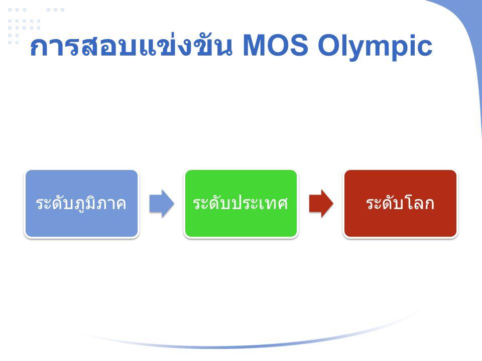 การสอบแข่งขัน MOS Olympic