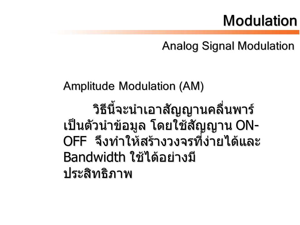 Modulation Analog Signal Modulation