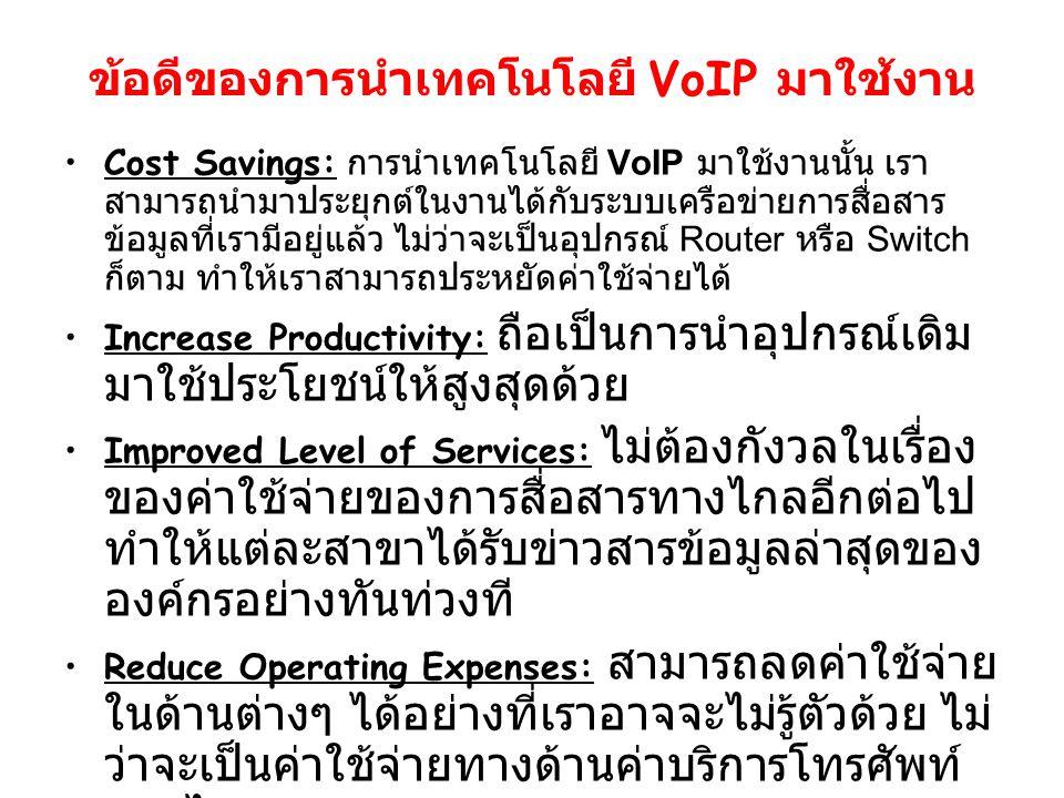 ข้อดีของการนำเทคโนโลยี VoIP มาใช้งาน