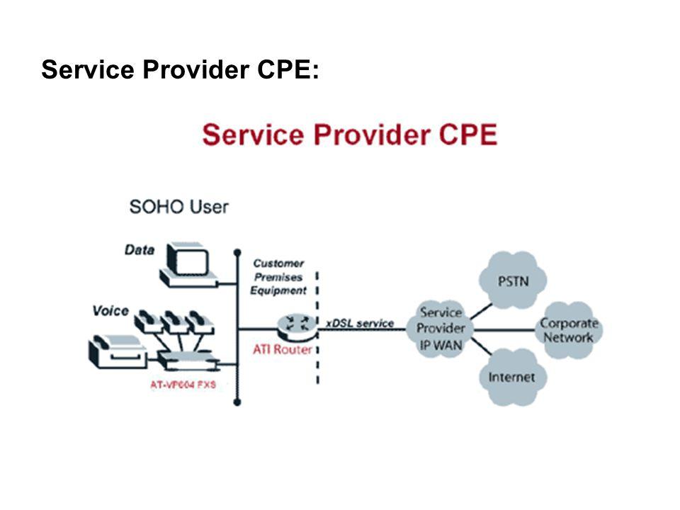 Service Provider CPE: