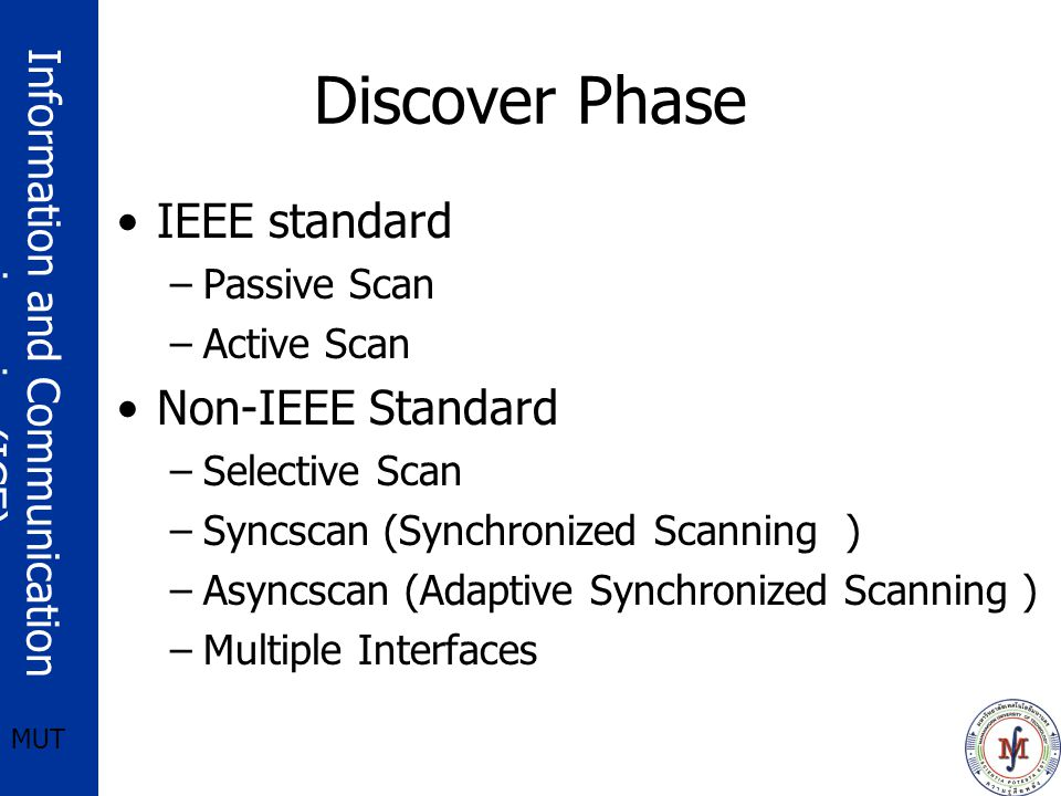 Discover Phase IEEE standard Non-IEEE Standard Passive Scan