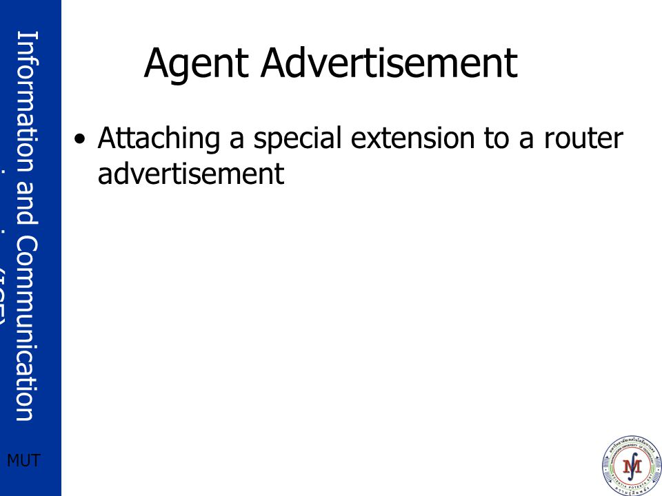 Agent Advertisement Attaching a special extension to a router advertisement