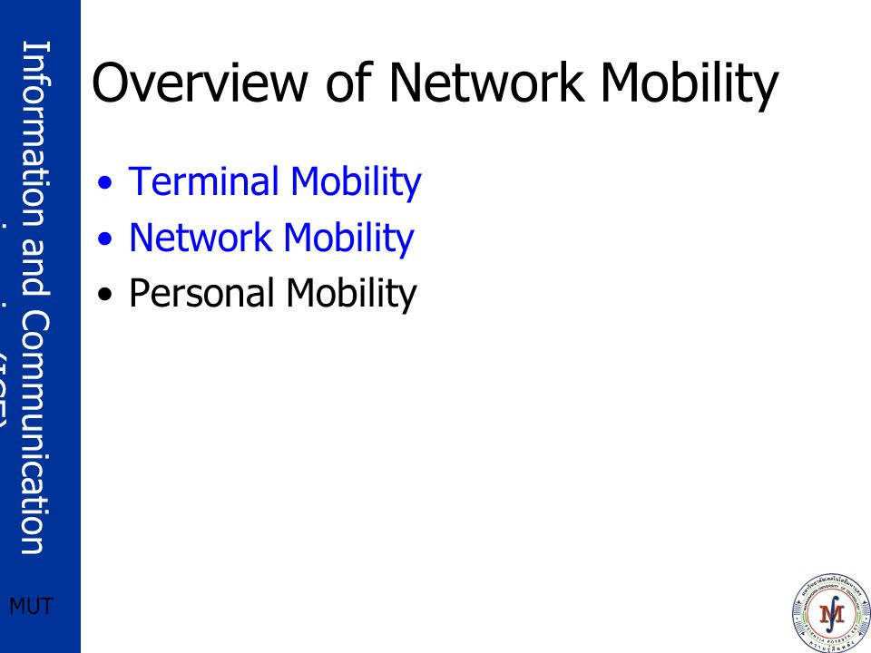 Overview of Network Mobility