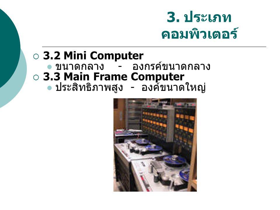 3. ประเภทคอมพิวเตอร์ 3.2 Mini Computer ขนาดกลาง - องกรค์ขนาดกลาง
