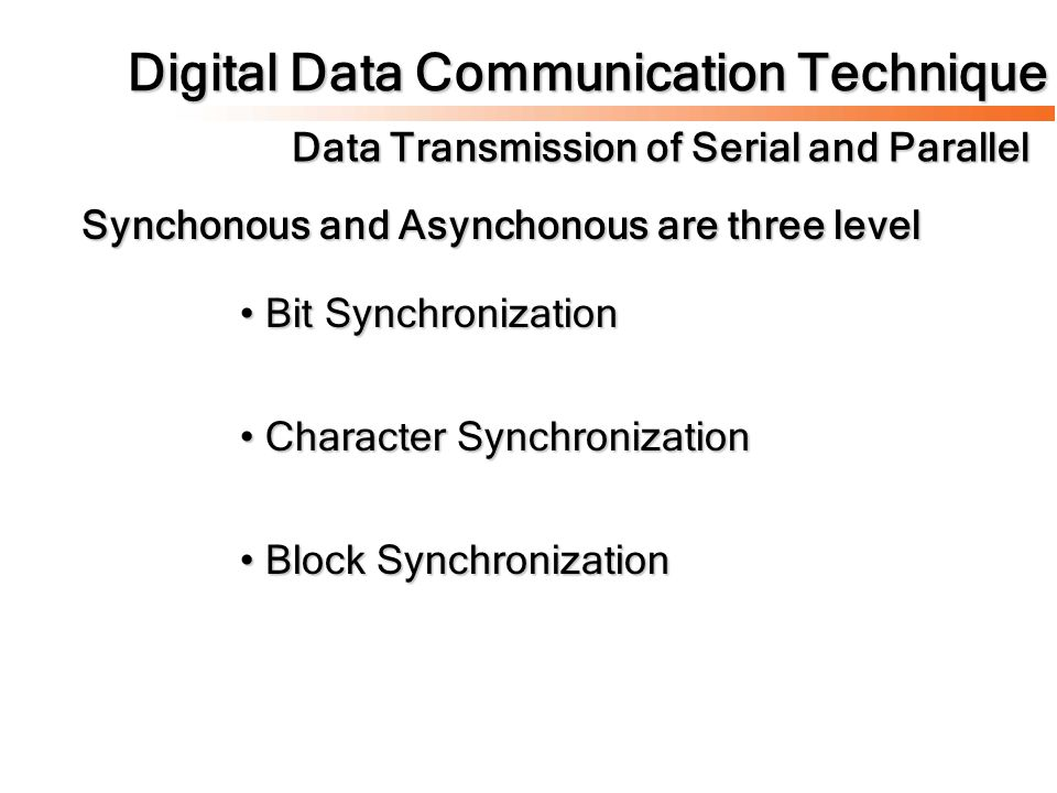 Digital Data Communication Technique