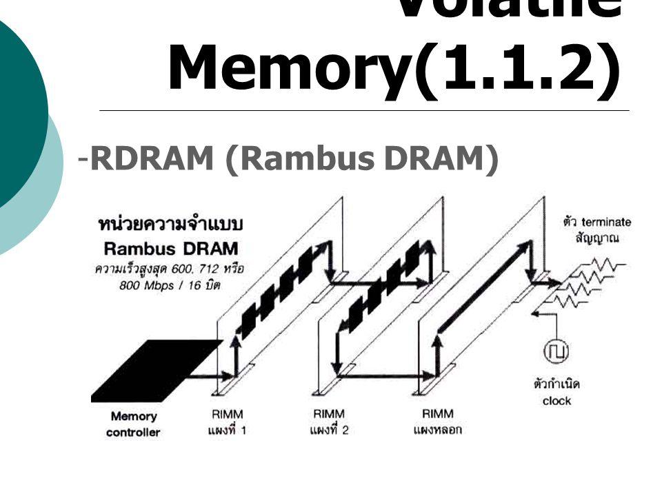 Volatile Memory(1.1.2) RDRAM (Rambus DRAM)