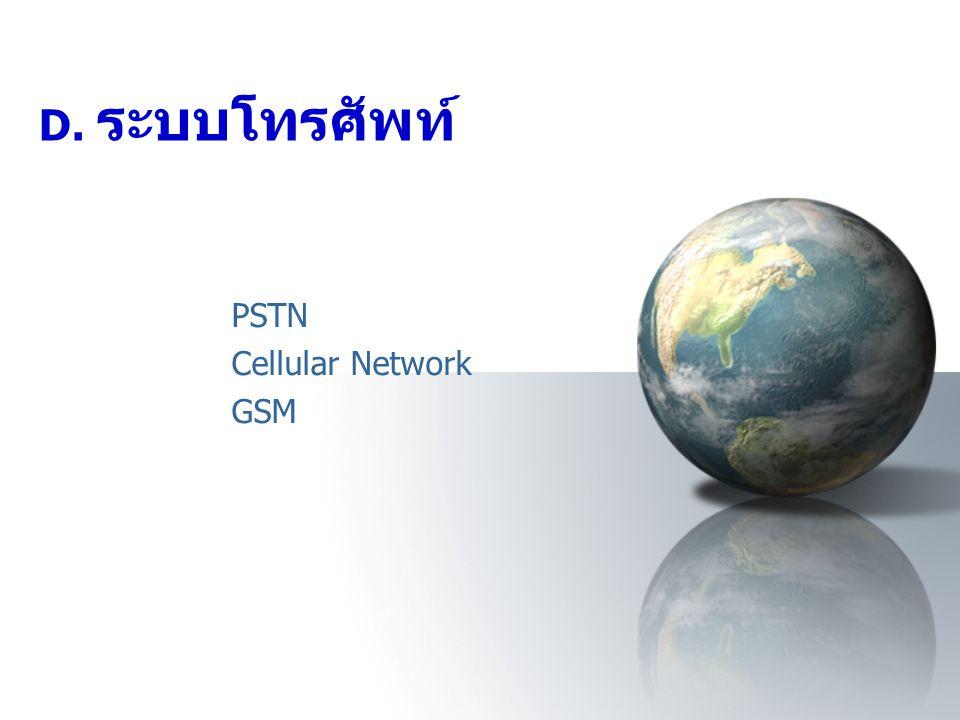 PSTN Cellular Network GSM